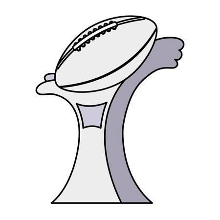 american football award on white background vector illustration design Illustration