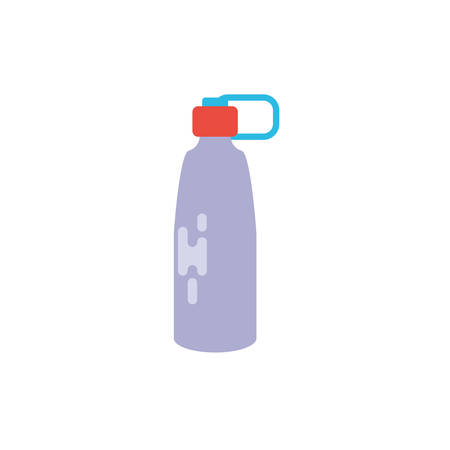 Water bottle design, Drink beverage mineral liquid fresh natural healthy plastic container clear and cold theme Vector illustration