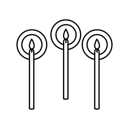 candles birthday set icons vector illustration design Ilustração