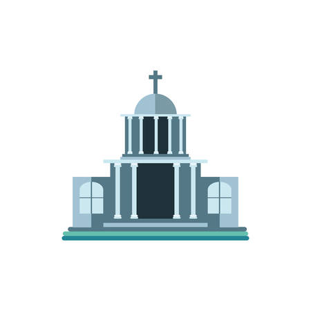 catholic church on white background vector illustration design Stock Illustratie