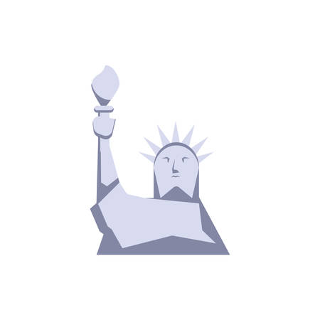Usa liberty statue design, United states america independence nation us country and national theme Vector illustration