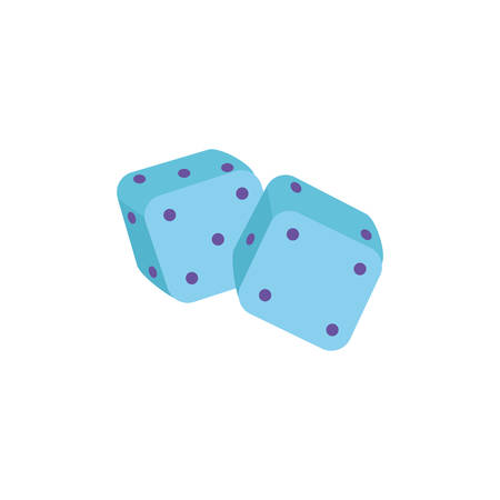 game lucky , dices on white background vector illustration design
