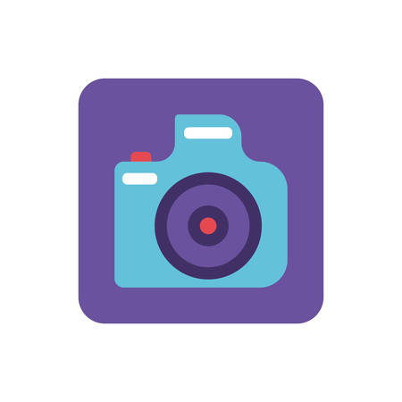 photographic camera on white background vector illustration design