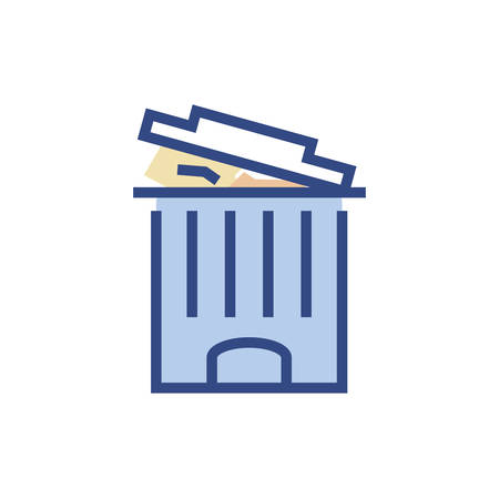 Trash icon design, Waste garbage ecology save green natural environment protection and care theme Vector illustration Illustration