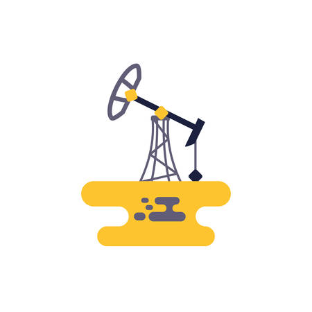Oil refinery design, Gas energy fuel technology power industrial production gasoline and petroleum theme Vector illustration