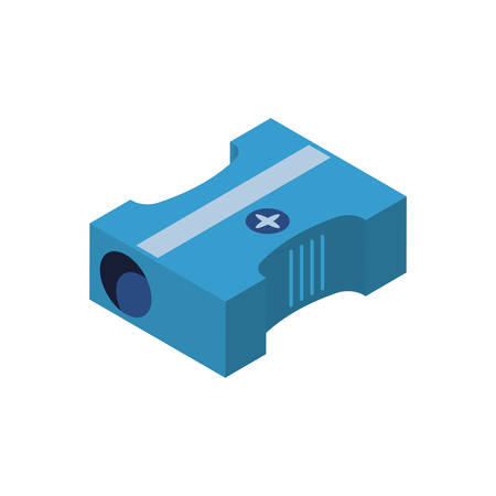 Sharpener icon design, Pencil tool write office object instrument equipment draw art and learn theme Vector illustration