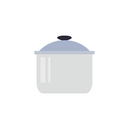Kitchen pot icon design, Supply domestic household tool cooking restaurant and domestic theme Vector illustration