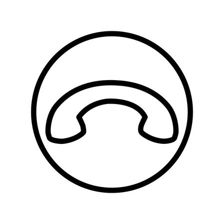 icon of hang up phone call, finish phone call vector illustration design Ilustración de vector