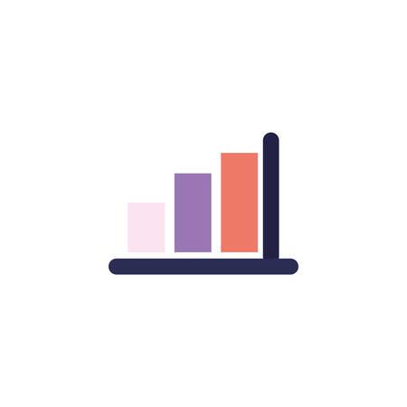 Workflow bars design, Infographic data information business analytics and visual presentation theme Vector illustration Illustration