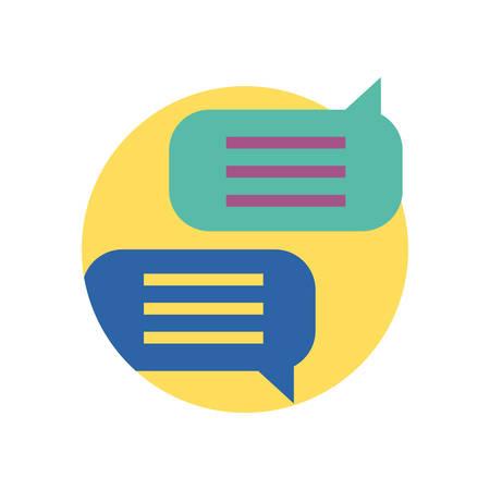 Communication bubbles design, Message discussion conversation talk and technology Vector illustration