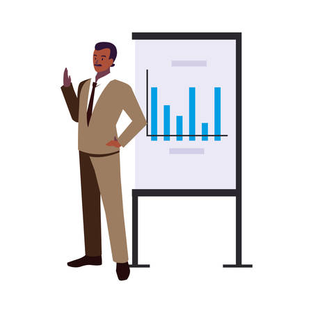 couple of people of business with graphs on white background vector illustration design 일러스트