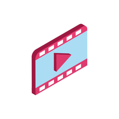 Movie play design, Cinema video film media entertainment show motion and presentation theme Vector illustration