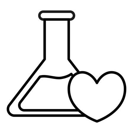 heart cardio with tube test vector illustration design