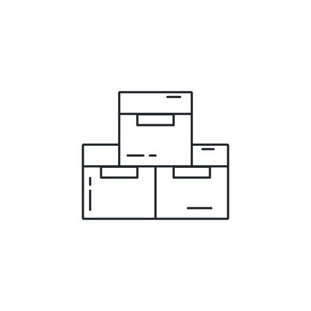 Box design, Delivery shipping logistics transportation distribution and merchandise theme Vector illustration Vectores