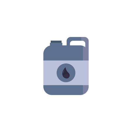 Oil industry jerrycan design, Gas energy fuel technology power industrial production and petroleum theme Vector illustration