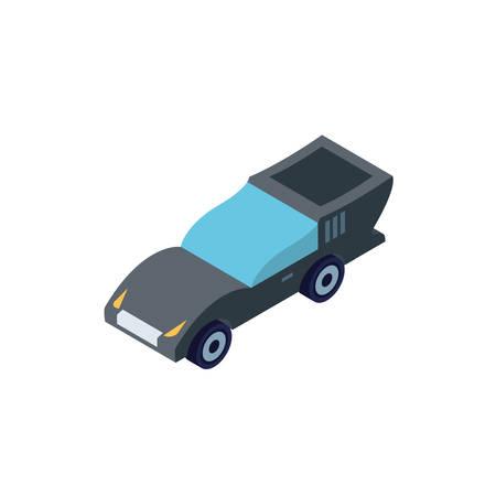 Isometric grey car design, Transportation vehicle transport wheel speed traffic road and travel theme Vector illustration  イラスト・ベクター素材