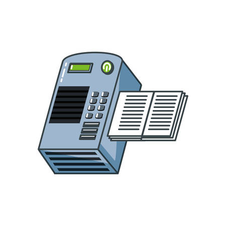 book printer machine icon vector illustration design Ilustracja