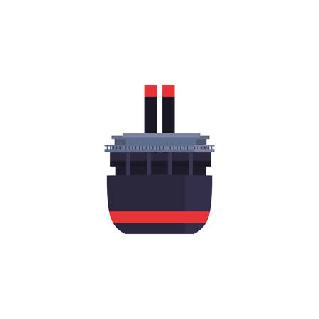 Oil industry ship design, Gas energy fuel technology power industrial production and petroleum theme Vector illustration