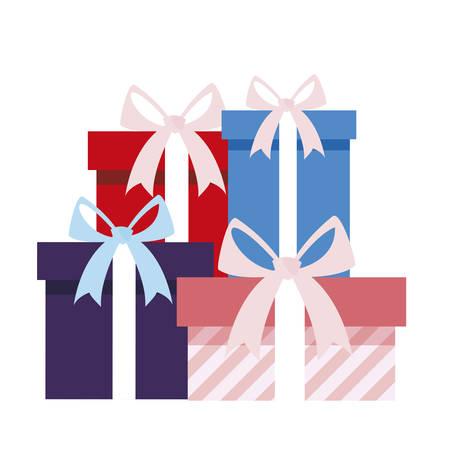gifts boxes presents icon vector illustration design Ilustracja