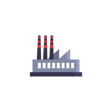 factory icon design, Industry plant building industrial construction job work technology and manufacturing theme Vector illustration