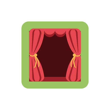 curtains, red, theatrical, hanging, vector illustration design 矢量图像
