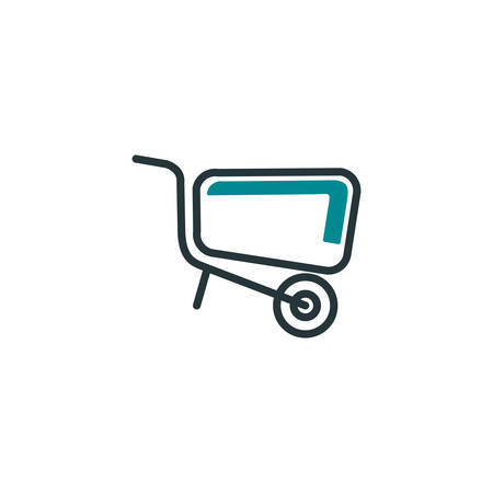 wheelbarrow design, Construction work repair reconstruction industry build and project theme Vector illustration Ilustrace