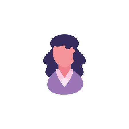 Avatar woman design, Girl female person people human and social media theme Vector illustration Standard-Bild - 139188662
