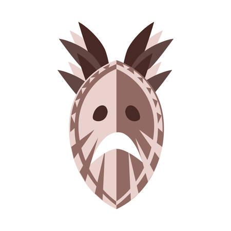 tribal mask on a white background vector illustration design