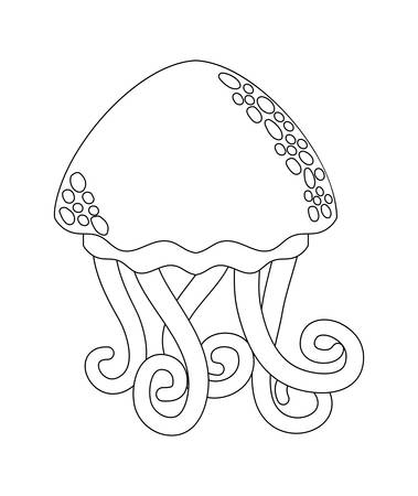 cute jellyfish isolated icon vector illustration design