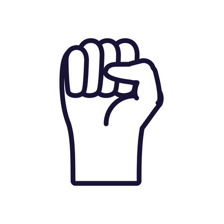 hand fist isolated icon vector illustration design
