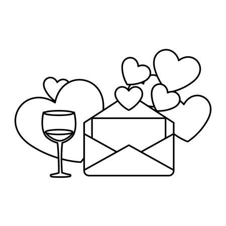 set of icons valentines day vector illustration design 版權商用圖片 - 139252183