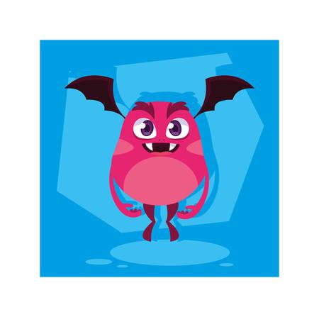 alien monster for halloween, funny monster vector illustration design