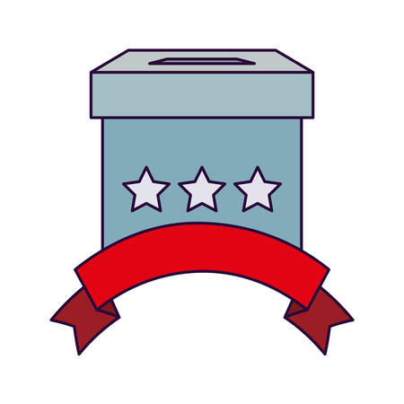 Vote box design, President election government campaign voting politician independence political and united theme Vector illustration 向量圖像