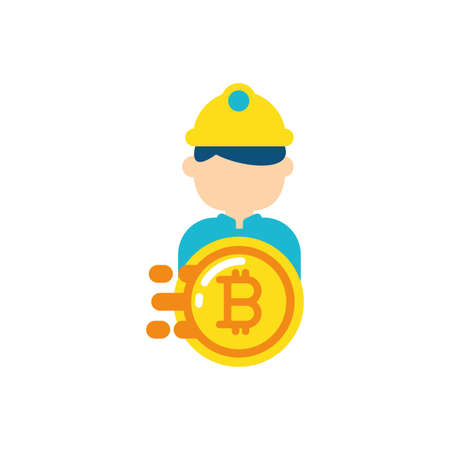 Bitcoin and constructor design of Cryptocurrency money currency exchange financial bank web internet market electronic finance and net theme Vector illustration