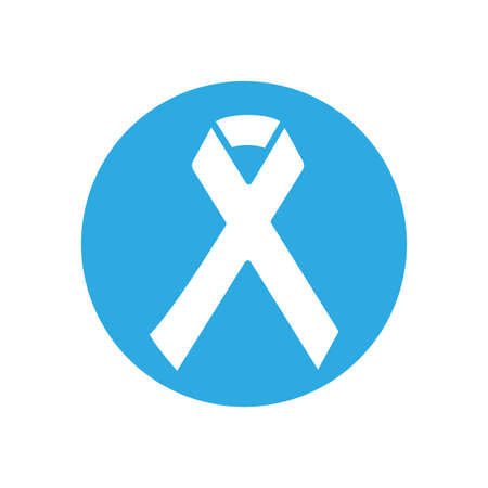 Ribbon inside circle design of Zero discrimination day awareness help support campaign love life care and solidarity theme Vector illustration