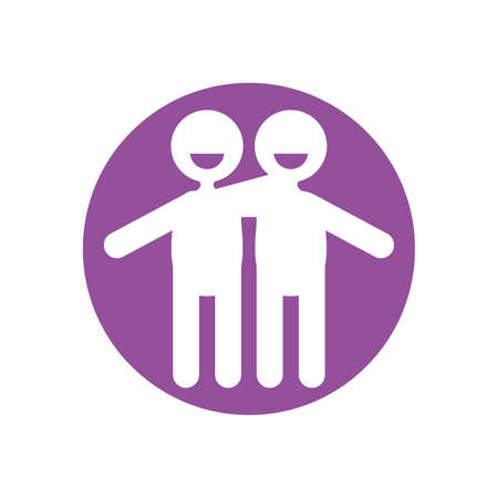 Avatars men design of Zero discrimination day awareness help support campaign love life care and solidarity theme Vector illustration
