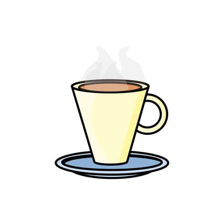 tasse à café, boisson, icône, vecteur, illustration, conception