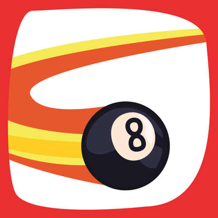 billiard flying balls sport vector illustration design