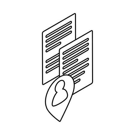 sheet of paper on white background vector illustration design