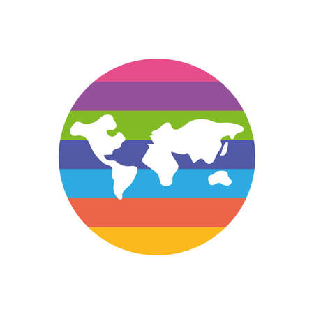Isolated world sphere, flat style icon vector illustration design