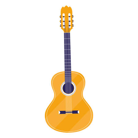 chitarra strumento musicale icona illustrazione vettoriale design Vettoriali