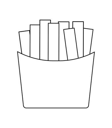 french fries fast food isolated icon vector illustration design