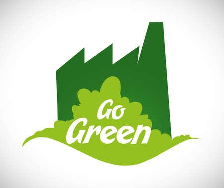 Go green digital design, vector illustration eps 10. Ilustração