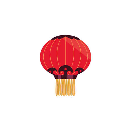 Chinese lamp design, China culture asia travel landmark famous asian and oriental theme Vector illustration