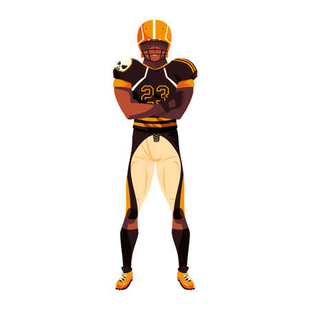 man team player american football with uniform on white background vector illustration design 일러스트