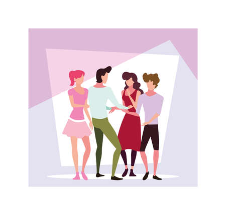 group of people faceless with different poses vector illustration design Archivio Fotografico - 140985509
