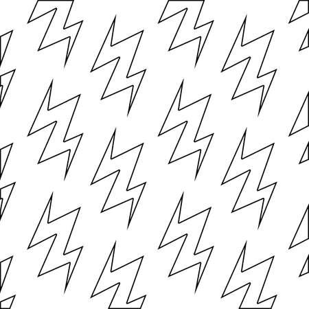 pattern of thunderbolts icons vector illustration design