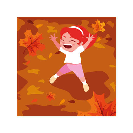 Girl cartoon playing outside design, Kid childhood little people lifestyle and person theme Vector illustration
