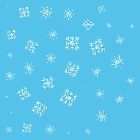 pattern of snowflakes icons vector illustration design