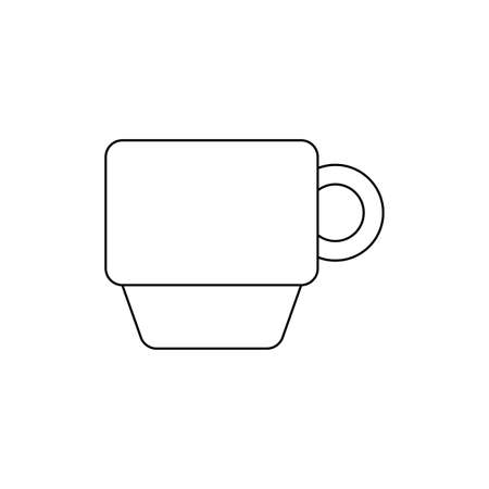 cup ceramic dishware isolated icon vector illustration design